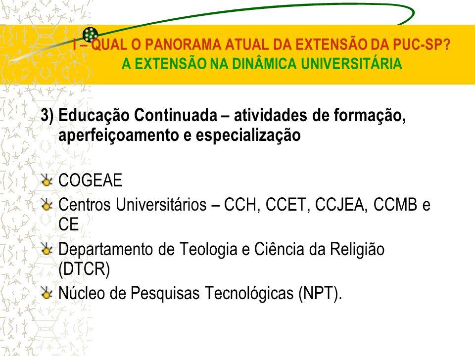 Centros Universitários – CCH, CCET, CCJEA, CCMB e CE