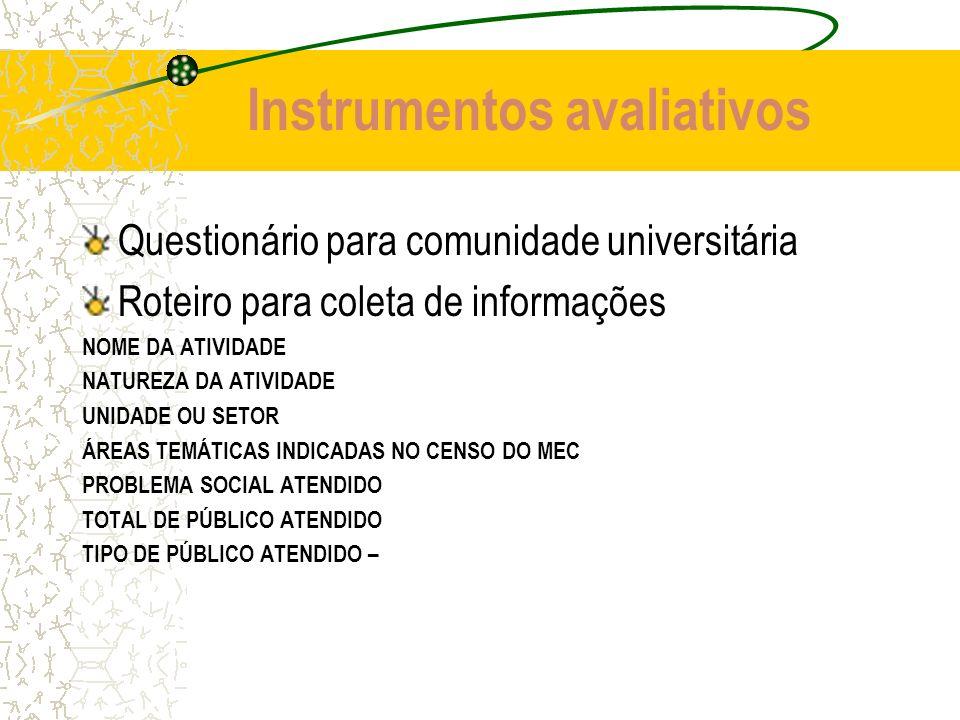 Instrumentos avaliativos