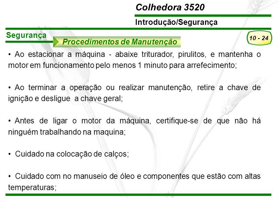 Segurança Procedimentos de Manutenção.