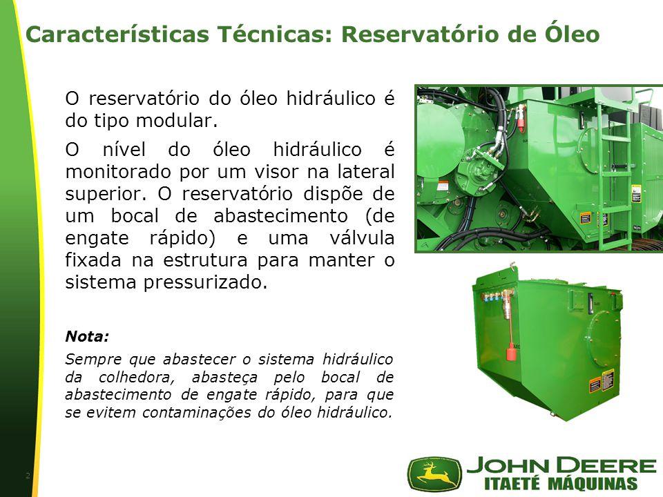 Características Técnicas: Reservatório de Óleo
