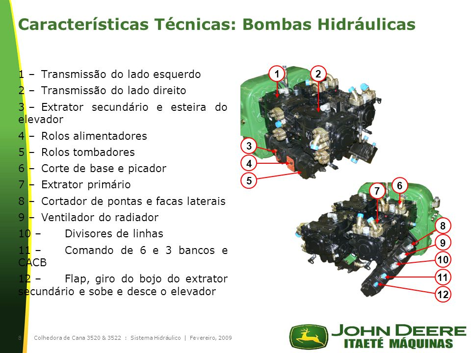 Características Técnicas: Bombas Hidráulicas
