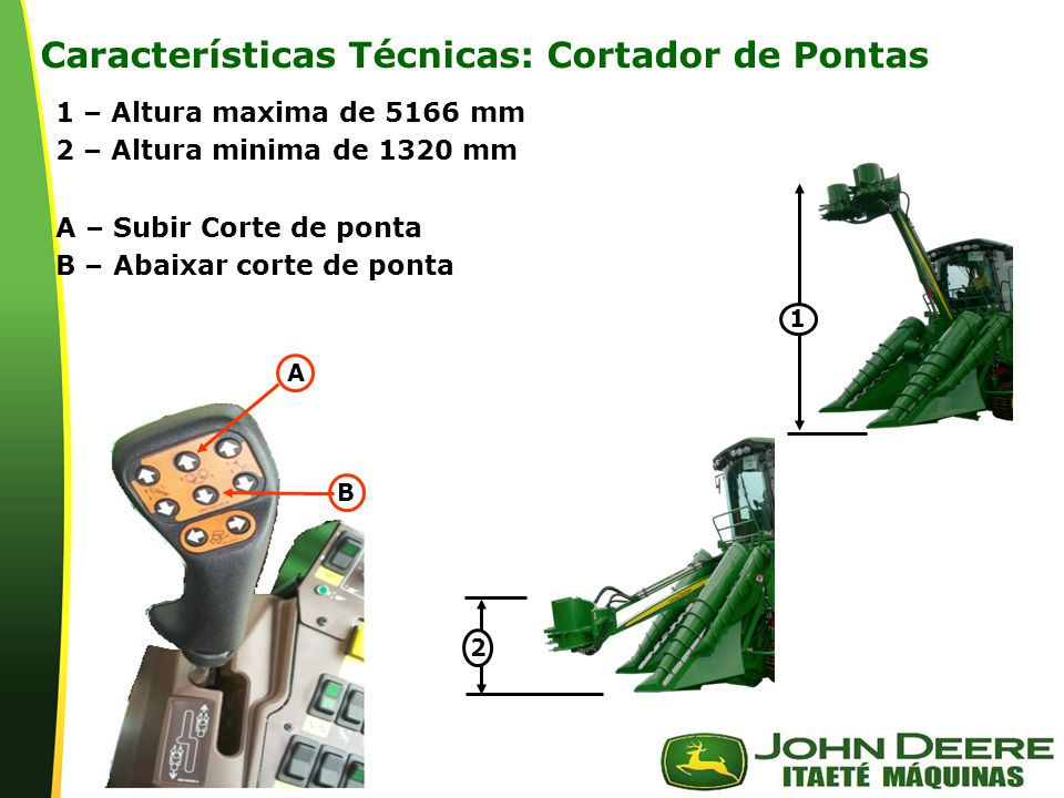 Características Técnicas: Cortador de Pontas