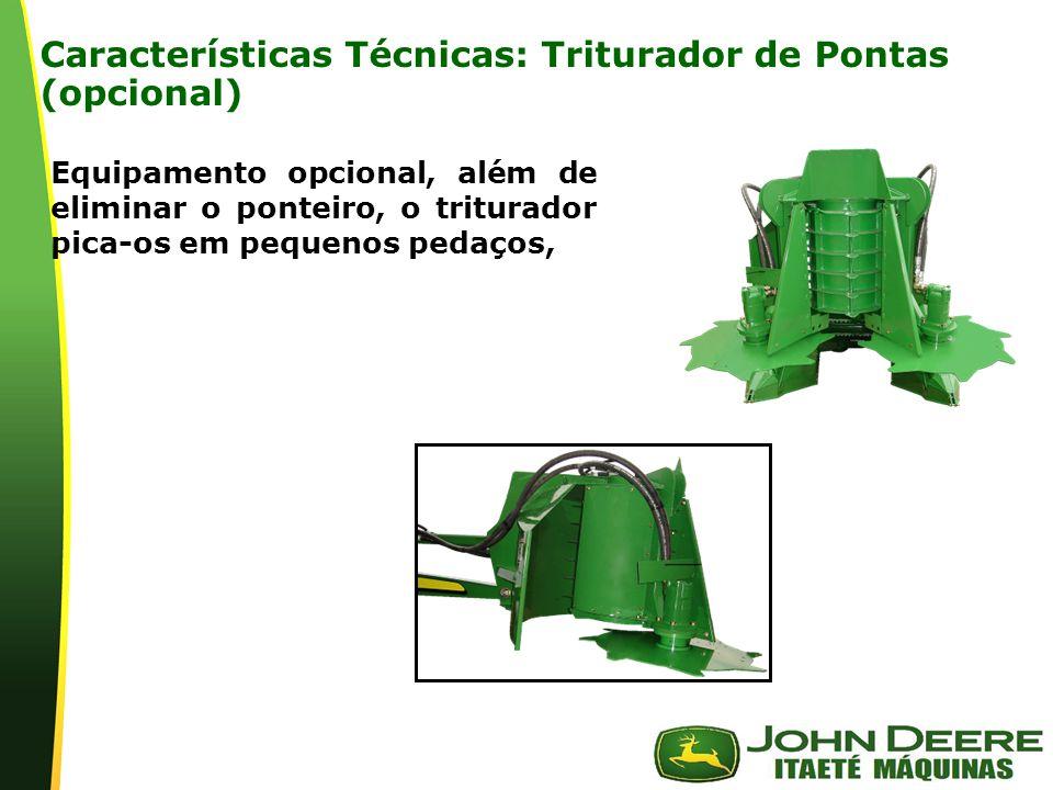 Características Técnicas: Triturador de Pontas (opcional)