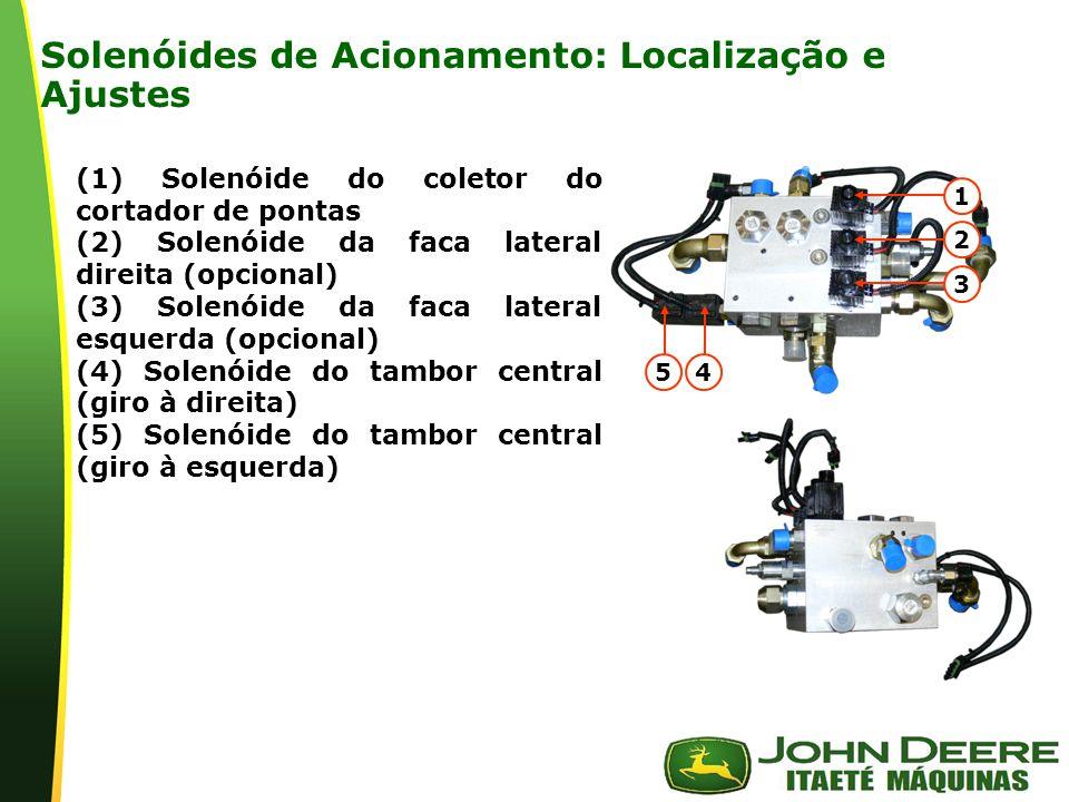 Solenóides de Acionamento: Localização e Ajustes