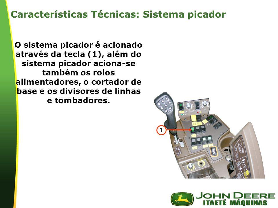 Características Técnicas: Sistema picador