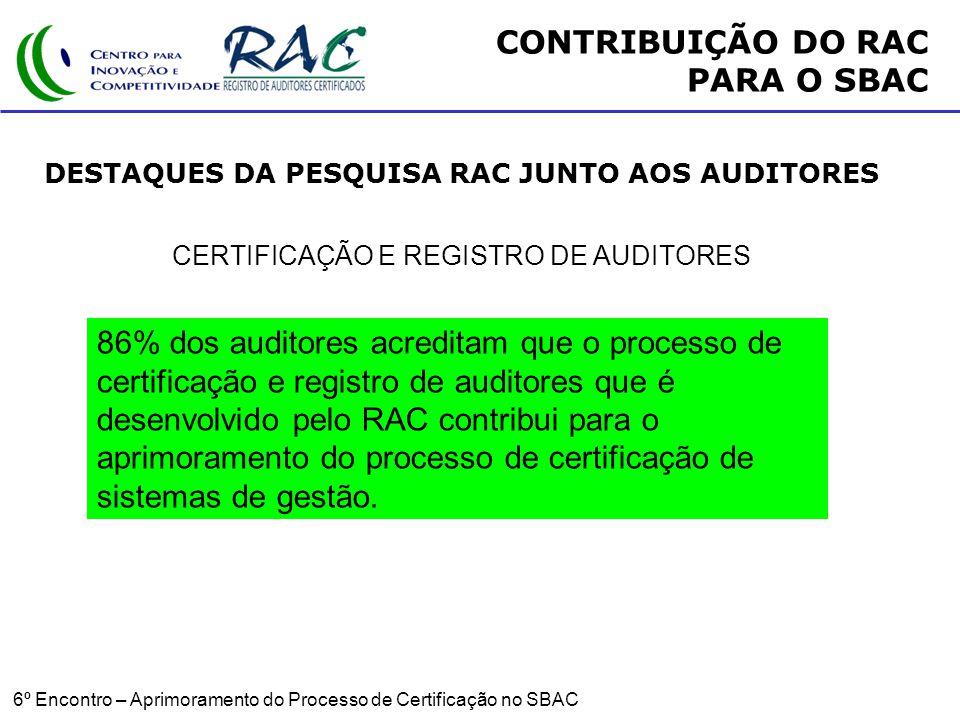 CERTIFICAÇÃO E REGISTRO DE AUDITORES