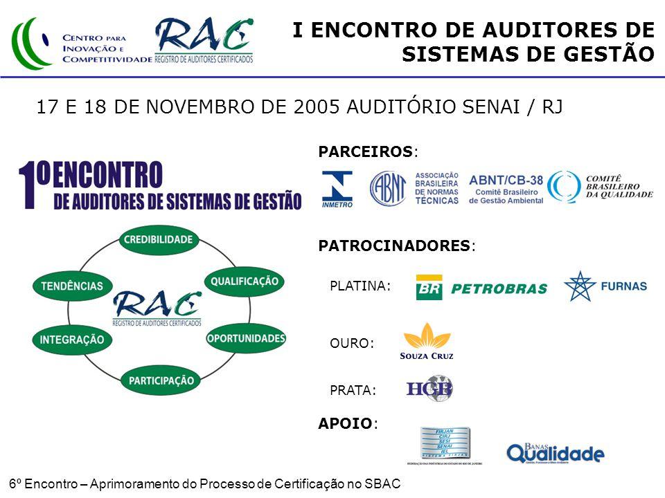 I ENCONTRO DE AUDITORES DE SISTEMAS DE GESTÃO