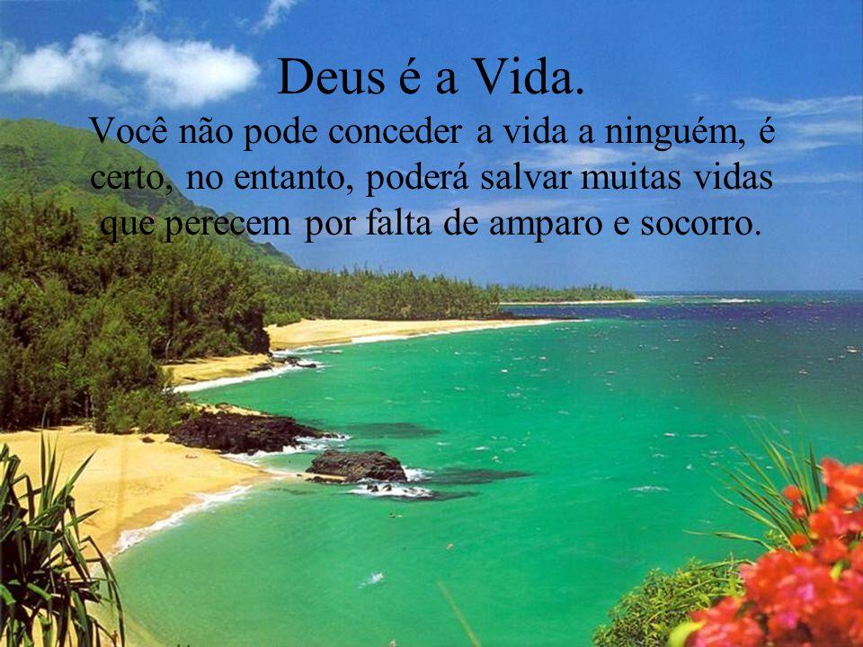 Deus é a Vida.