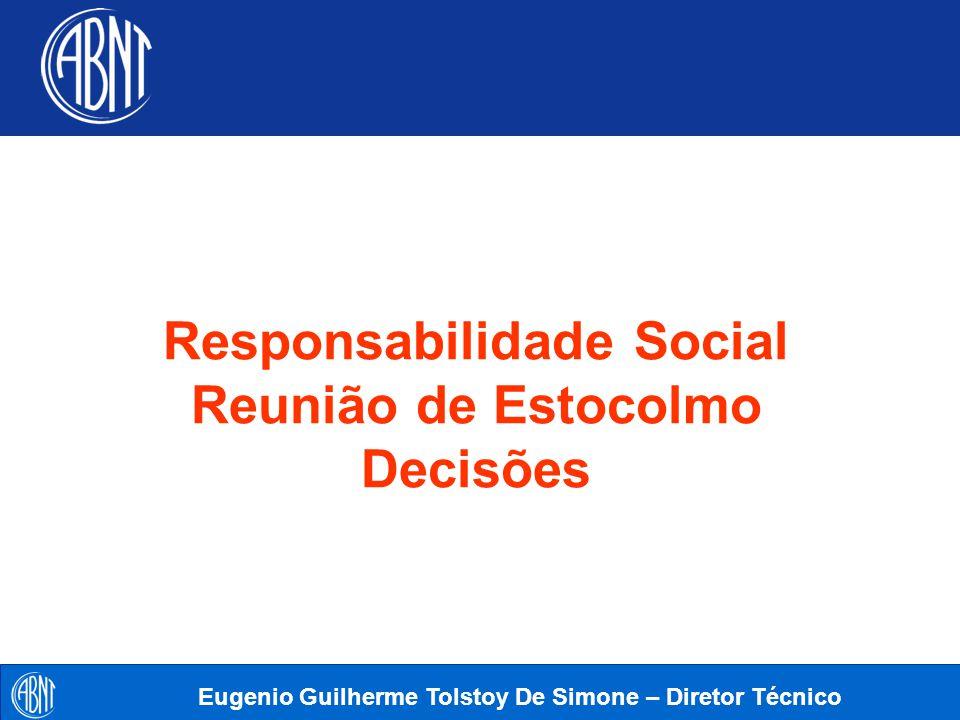 Responsabilidade Social Reunião de Estocolmo Decisões