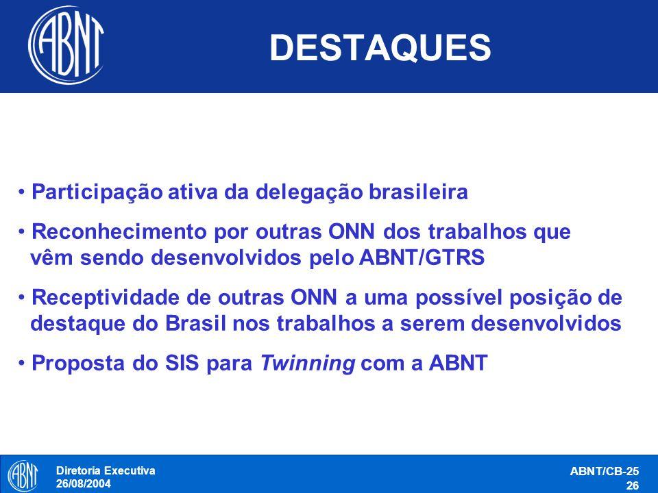 DESTAQUES Participação ativa da delegação brasileira