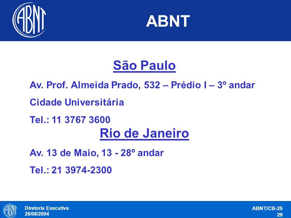 ABNT São Paulo Rio de Janeiro