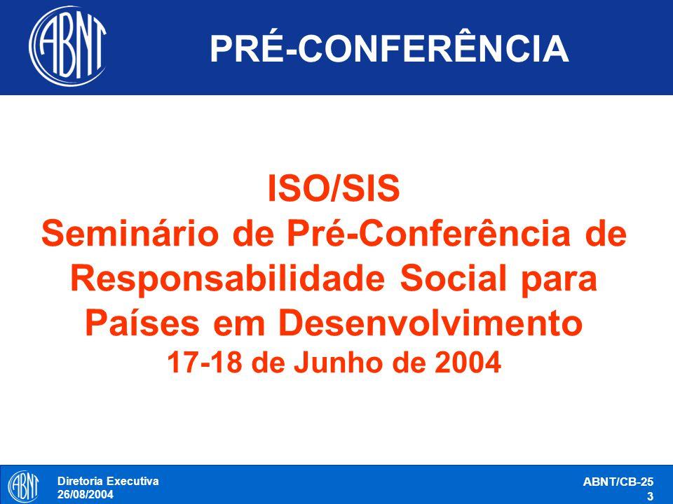 PRÉ-CONFERÊNCIA ISO/SIS