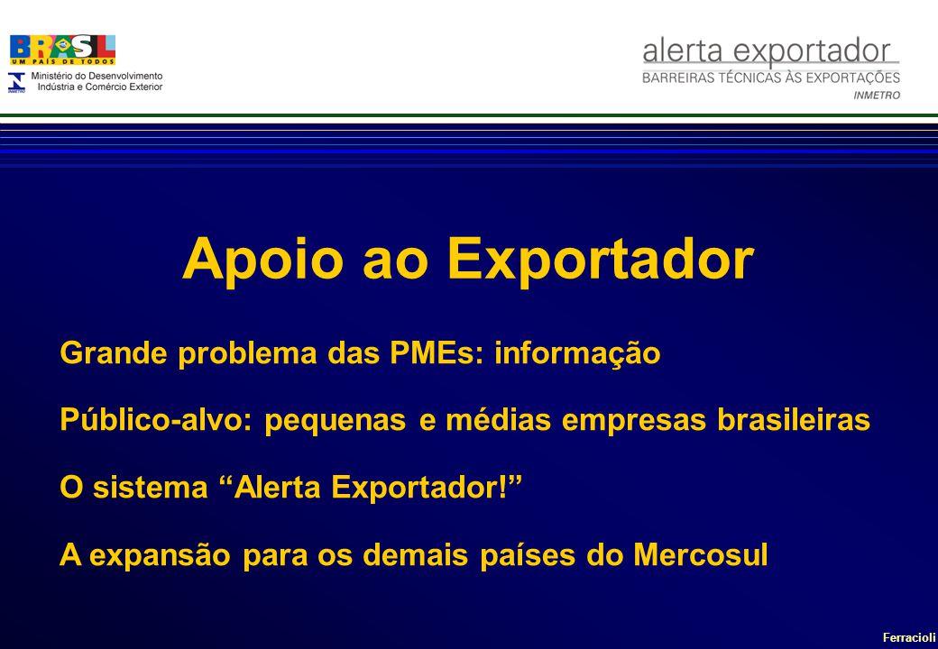 Apoio ao Exportador Grande problema das PMEs: informação
