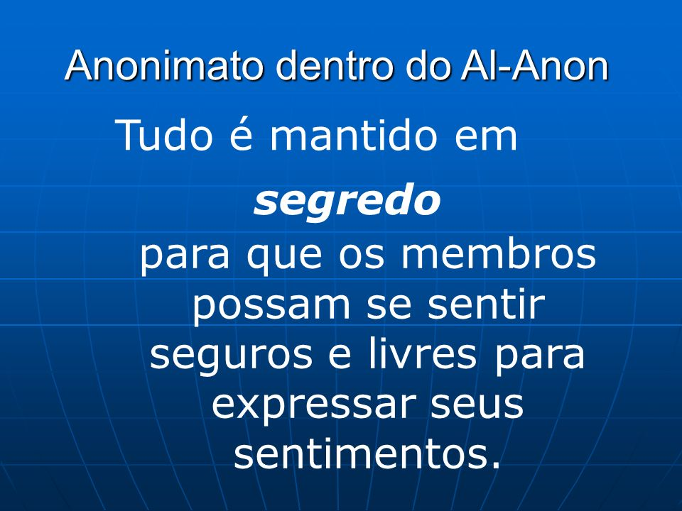 Anonimato dentro do Al-Anon