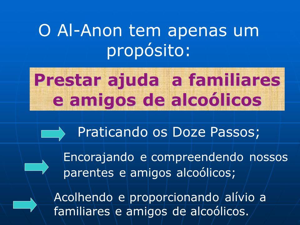 Prestar ajuda a familiares e amigos de alcoólicos