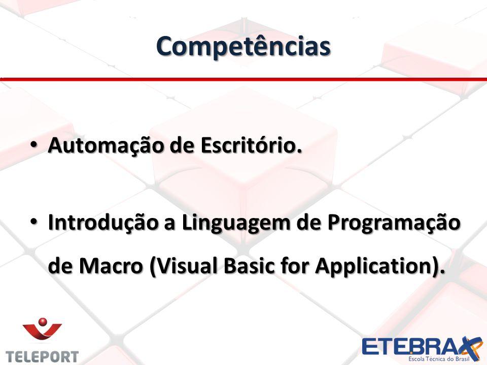 Competências Automação de Escritório.
