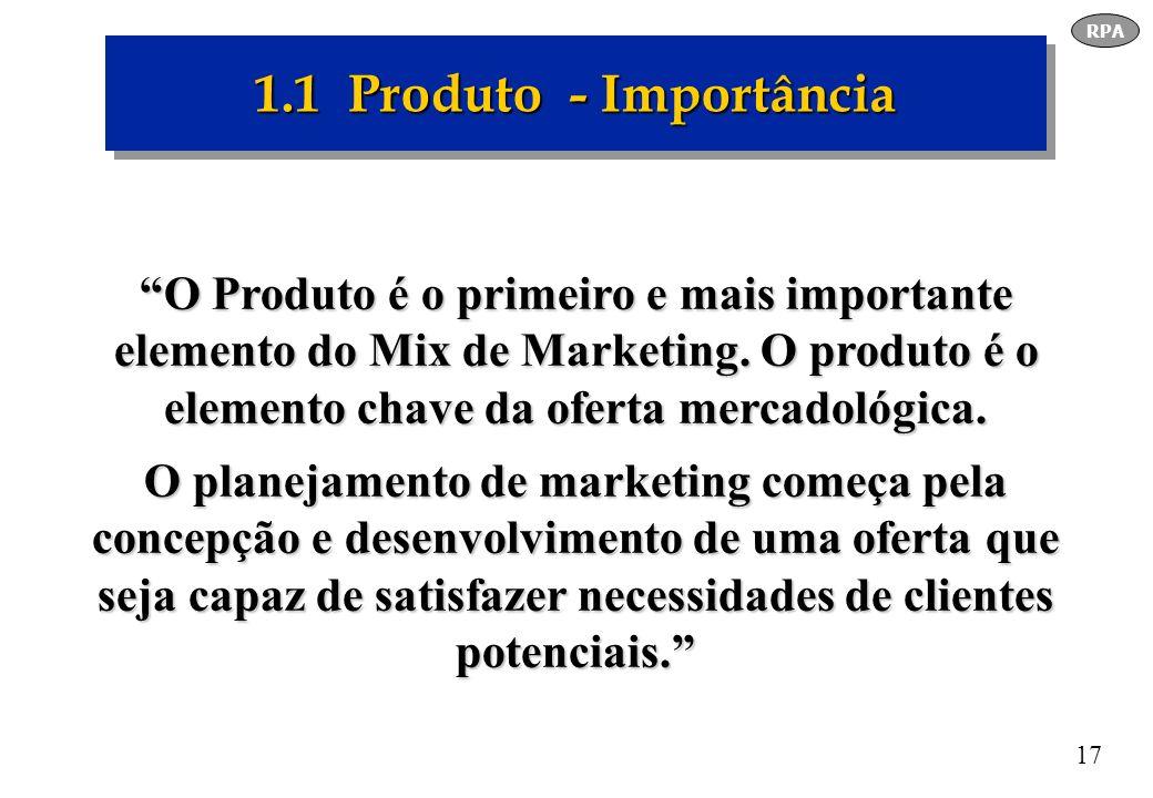 RPA 1.1 Produto - Importância.