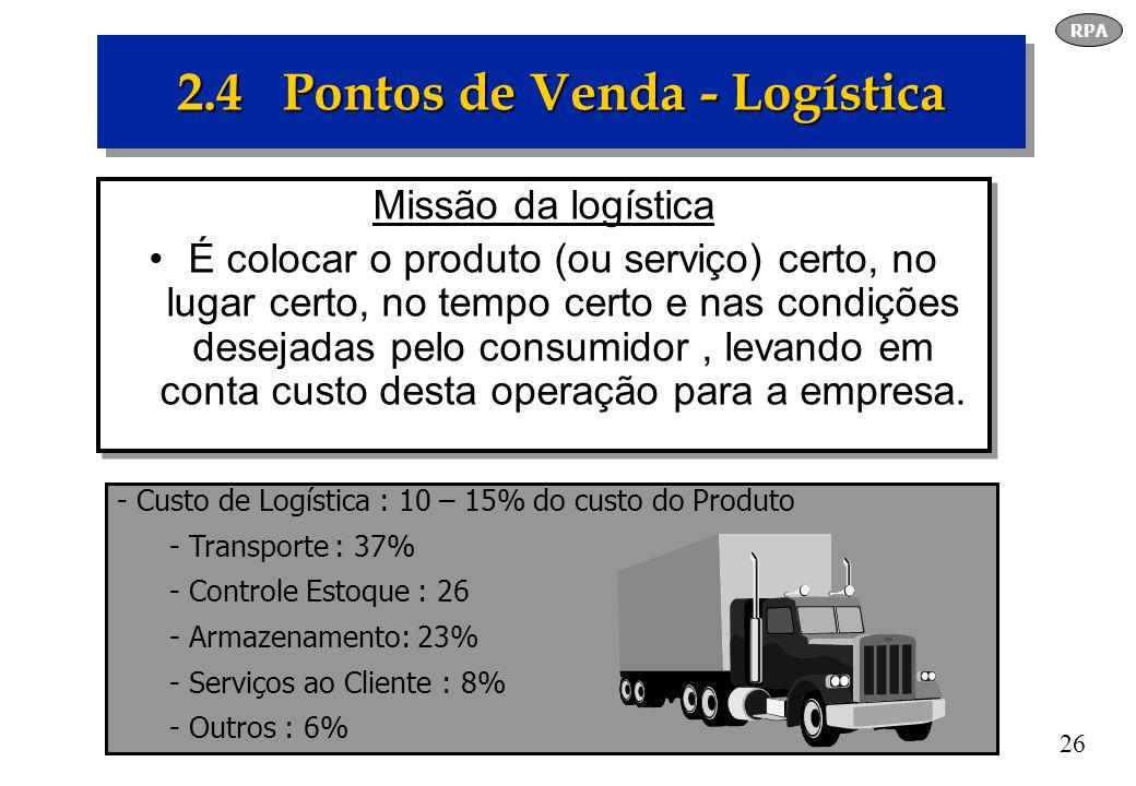 2.4 Pontos de Venda - Logística