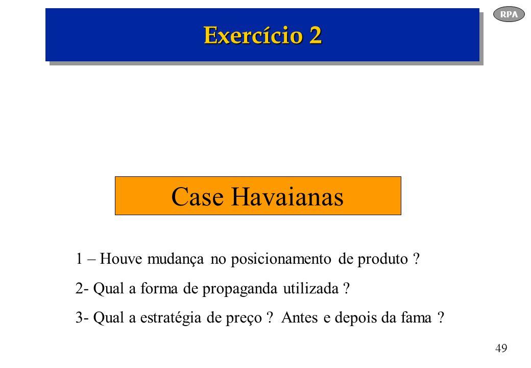 Case Havaianas Exercício 2