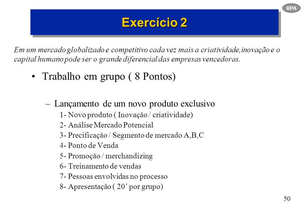 Exercício 2 Trabalho em grupo ( 8 Pontos)