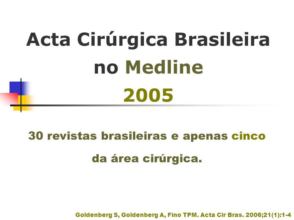 Acta Cirúrgica Brasileira no Medline 2005