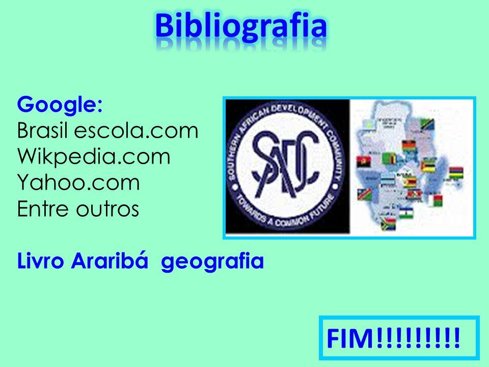 Bibliografia FIM!!!!!!!!! Google: Brasil escola.com Wikpedia.com