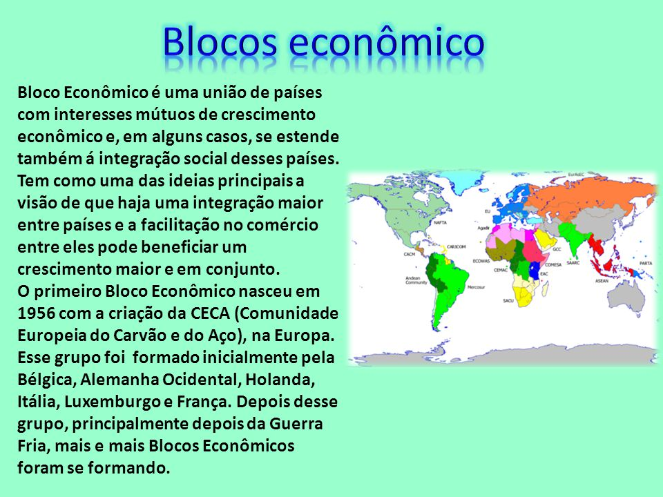 Blocos econômico