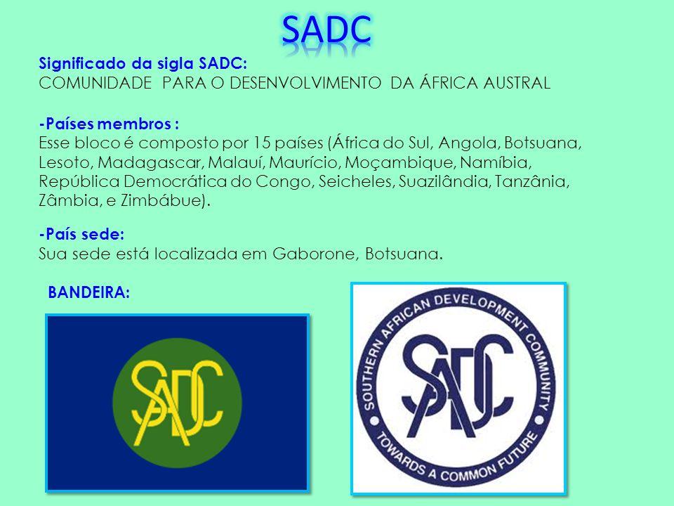 SADC Significado da sigla SADC: