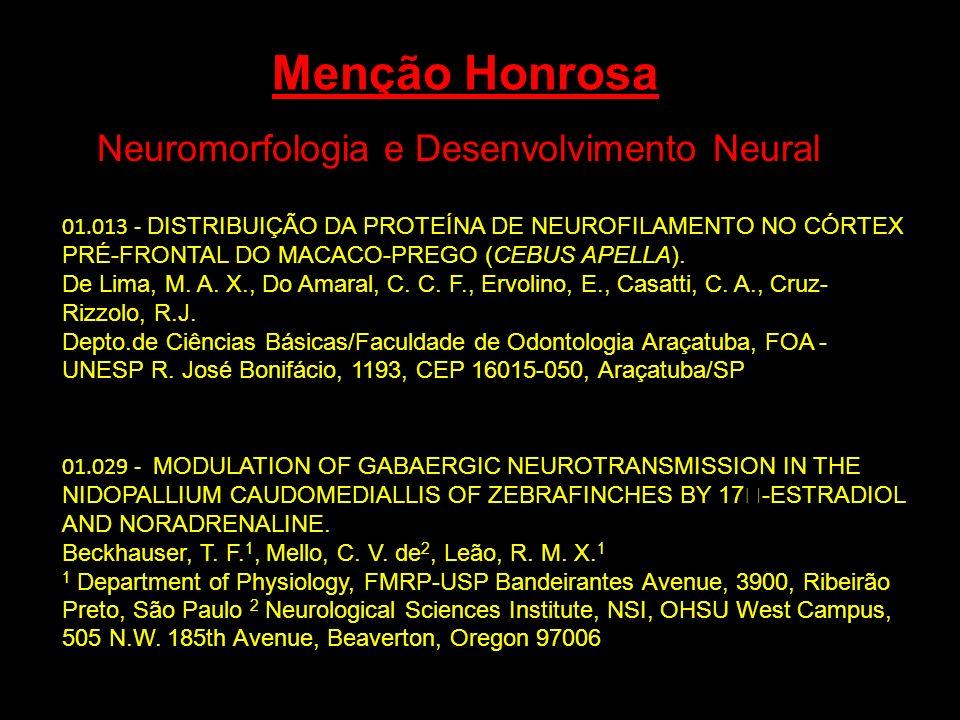 Neuromorfologia e Desenvolvimento Neural