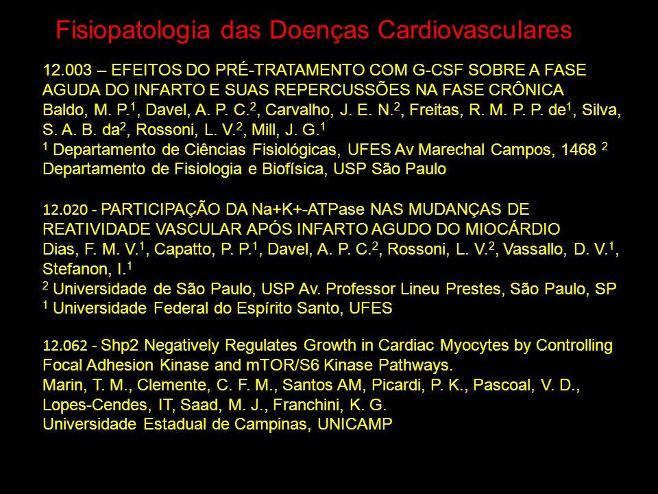 Fisiopatologia das Doenças Cardiovasculares