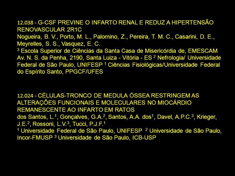 12.038 - G-CSF PREVINE O INFARTO RENAL E REDUZ A HIPERTENSÃO RENOVASCULAR 2R1C