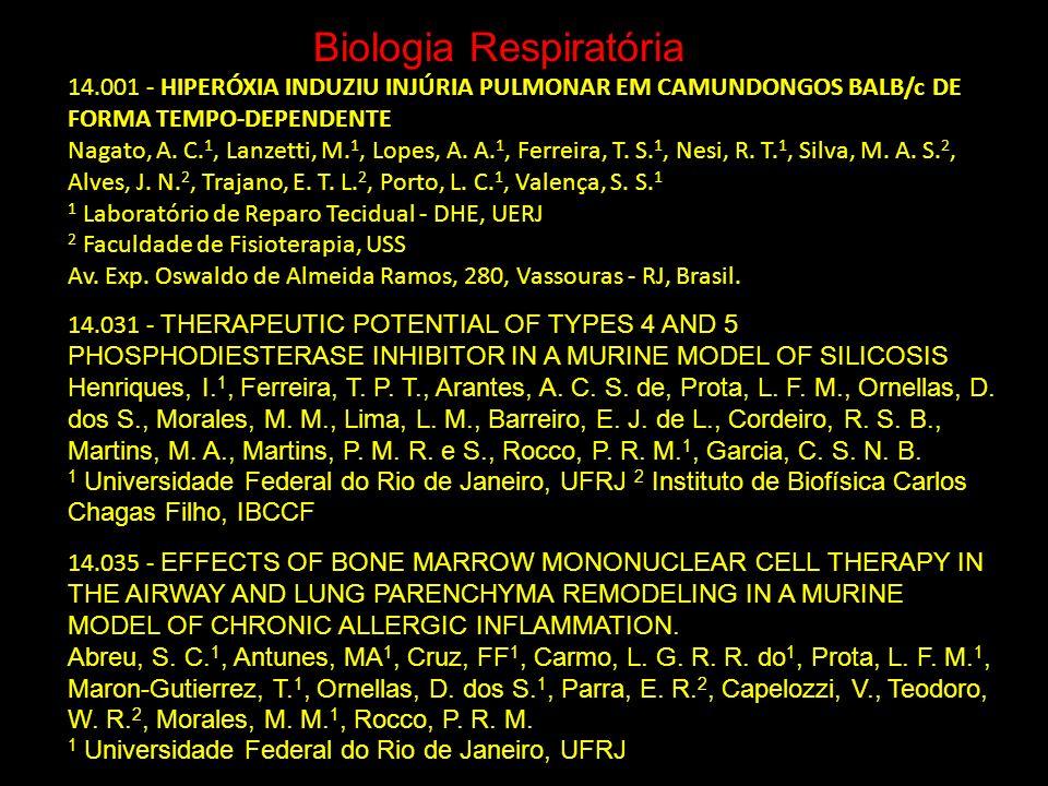 Biologia Respiratória