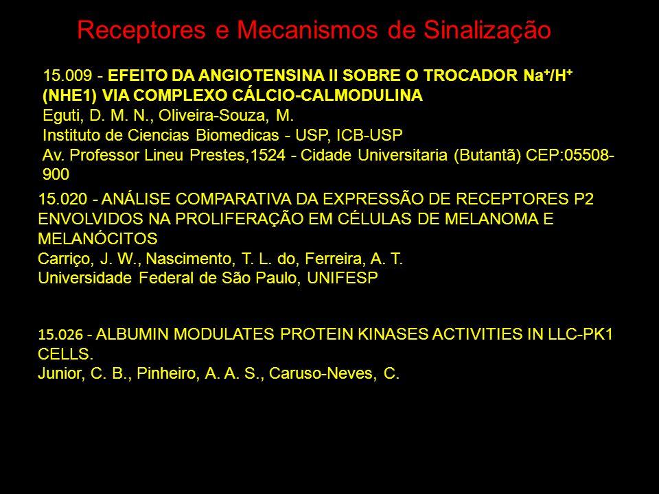 Receptores e Mecanismos de Sinalização