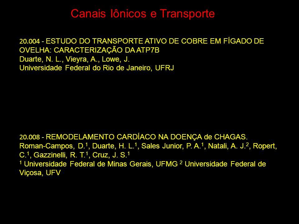 Canais Iônicos e Transporte