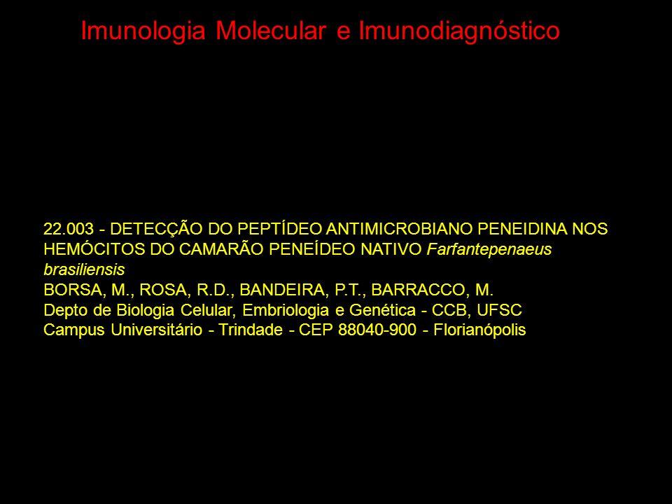 Imunologia Molecular e Imunodiagnóstico