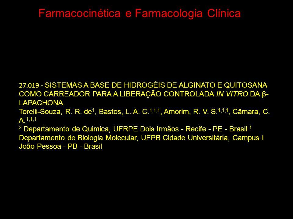 Farmacocinética e Farmacologia Clínica