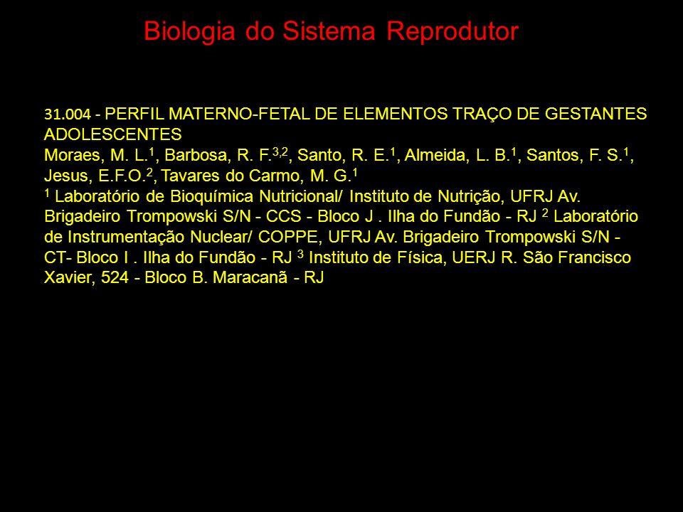 Biologia do Sistema Reprodutor