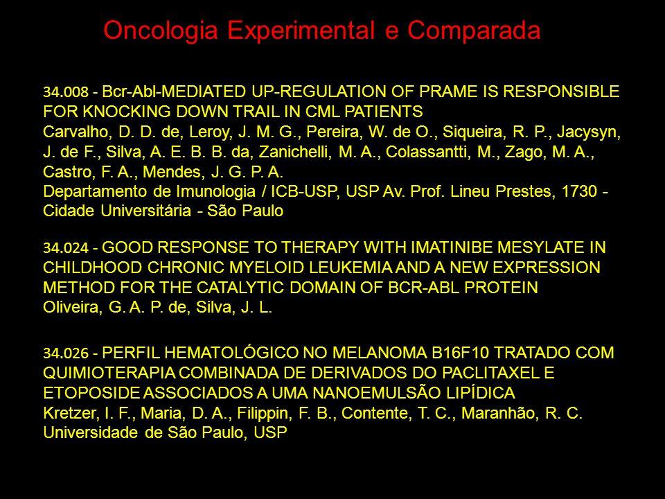 Oncologia Experimental e Comparada
