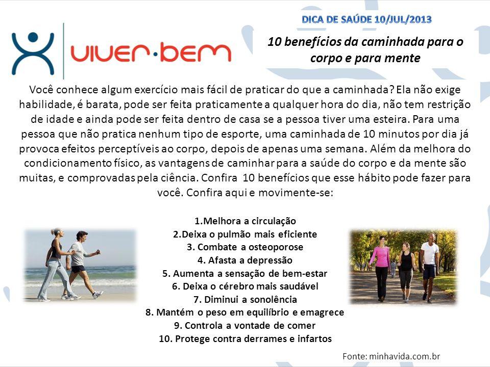 10 benefícios da caminhada para o corpo e para mente