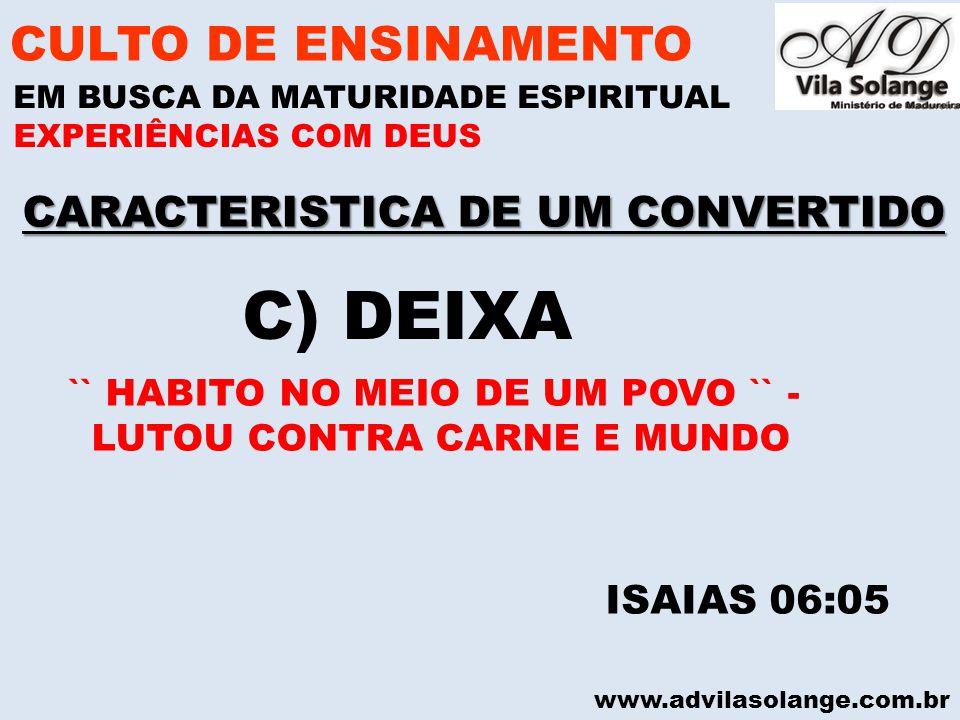 CARACTERISTICA DE UM CONVERTIDO