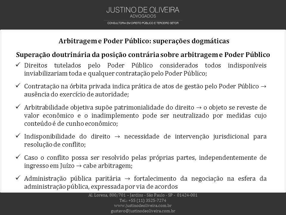 Arbitragem e Poder Público: superações dogmáticas