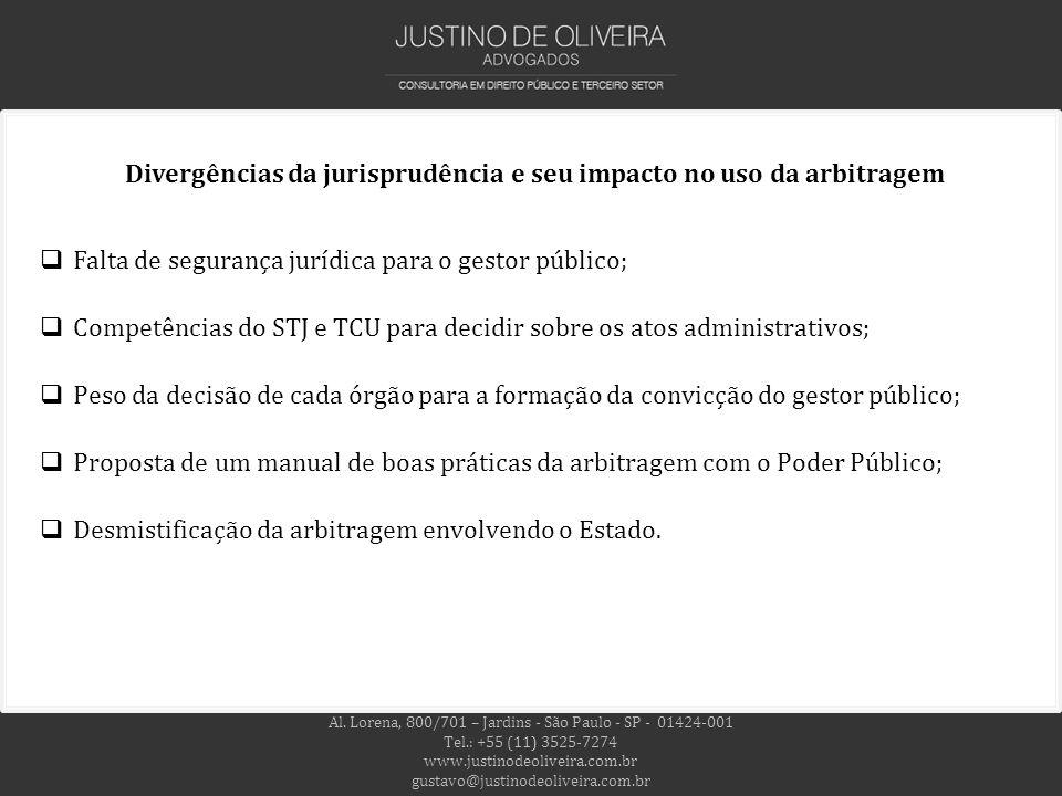 Divergências da jurisprudência e seu impacto no uso da arbitragem