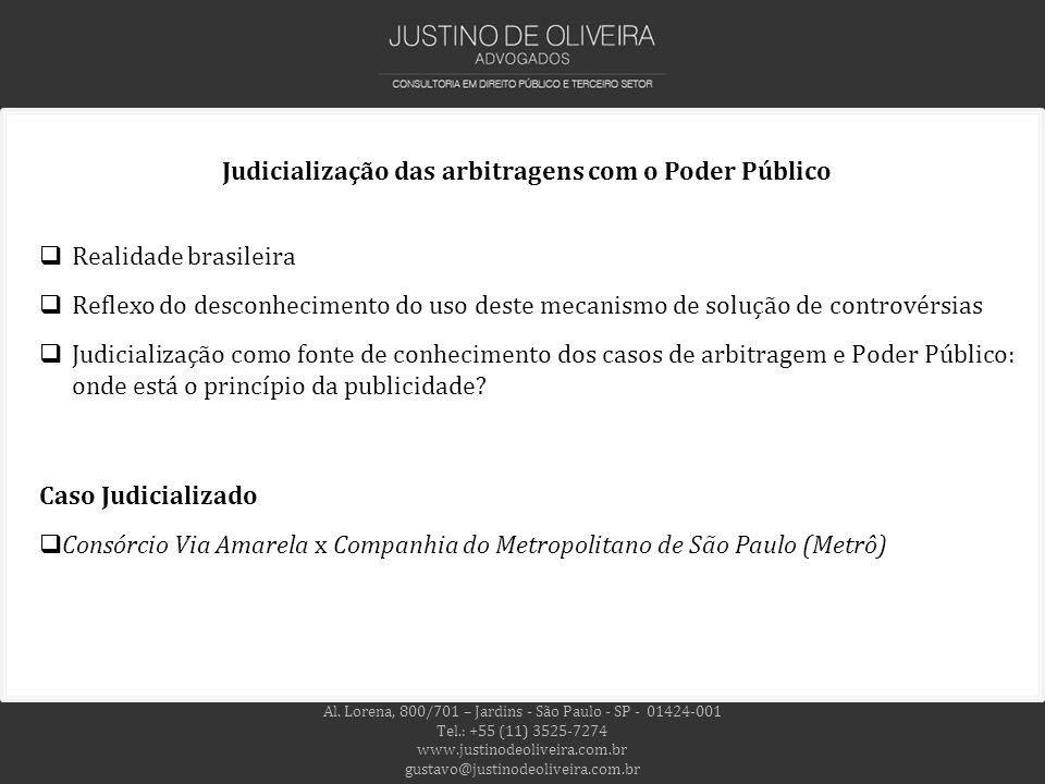 Judicialização das arbitragens com o Poder Público