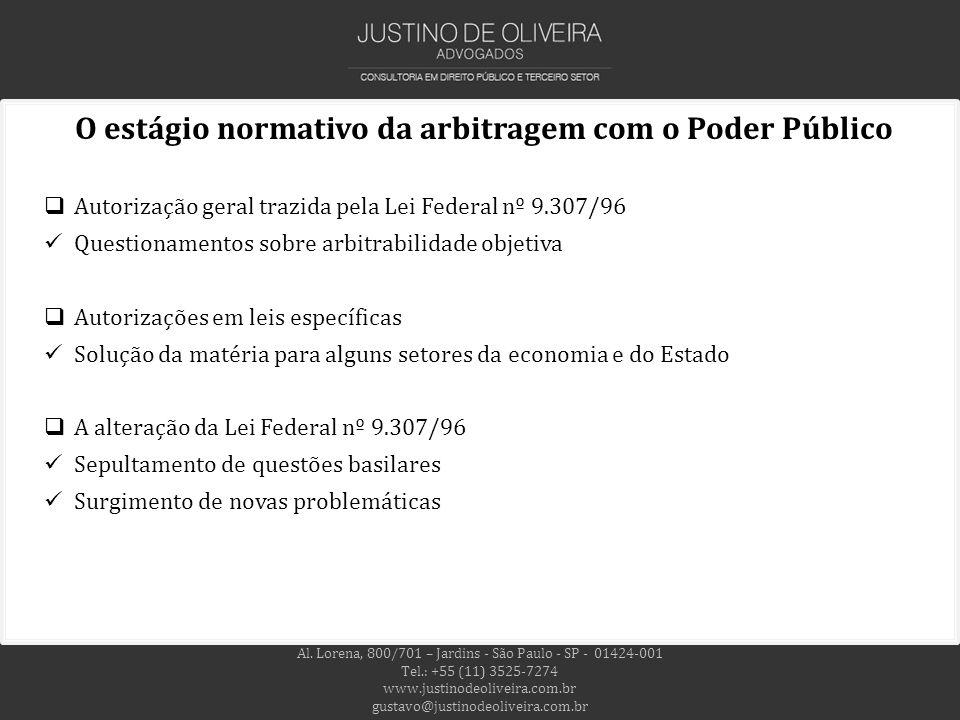 O estágio normativo da arbitragem com o Poder Público