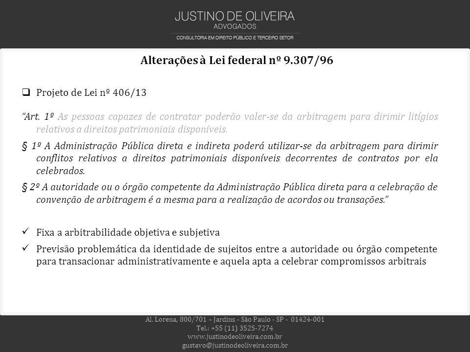 Alterações à Lei federal nº 9.307/96