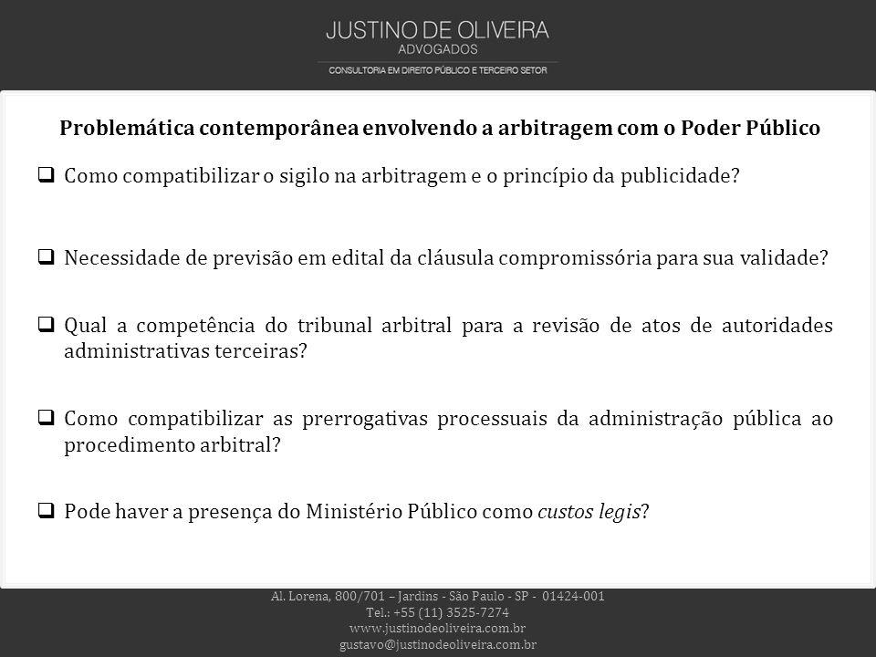 Problemática contemporânea envolvendo a arbitragem com o Poder Público