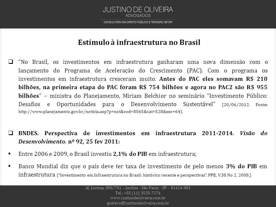 Estímulo à infraestrutura no Brasil