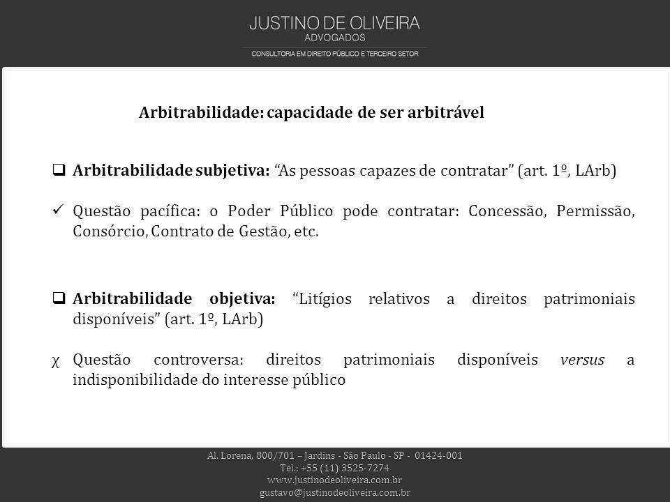 Arbitrabilidade: capacidade de ser arbitrável