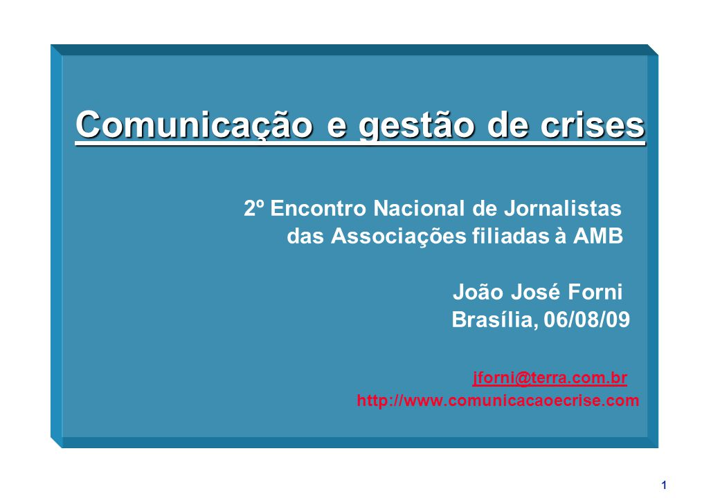 Comunicação e gestão de crises