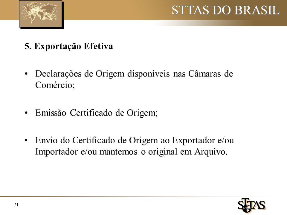 STTAS DO BRASIL 5. Exportação Efetiva